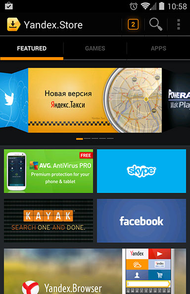 Alternative Android App Store Yandex Papidroid Android