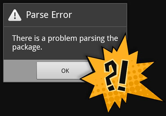 parse error there is a problem parsing the package why it